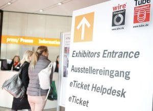 wire,Tube Messe in Düsseldorf @ Messegelände Düsseldorf