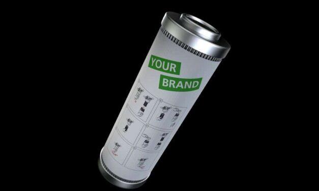 Exapor-Filterelement mit individuellem Branding