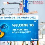 bauma wird in den Oktober 2022 verschoben