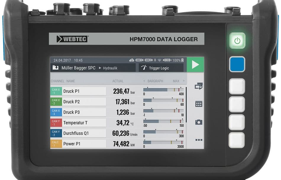 Tragbarer Hydraulik-Datenlogger